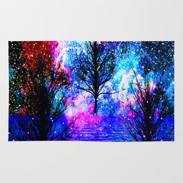 NEBULA TREES FANTASY OCEAN DREAMS Rug