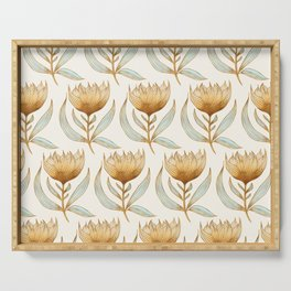 Bohemian Sunflower Pattern Serving Tray