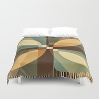 clover Duvet Covers featuring clover by Julia Tomova