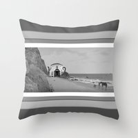 planet of the apes Throw Pillows featuring Filthy Apes by IRIS Photo & Design