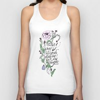 oscar wilde Tank Tops featuring Oscar Wilde Quote  by TLG Creative