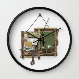 Fragmented Cabin Study in 1:10 Scale Wall Clock