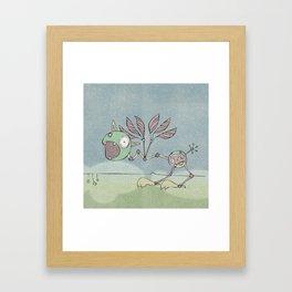 Green Shrieky Framed Art Print