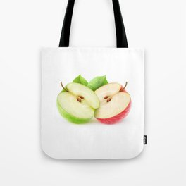 Apple halves Tote Bag