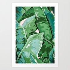 Banana leaf grandeur II Art Print