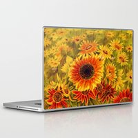 sunflowers Laptop & iPad Skins featuring SUNFLOWERS by Vargamari
