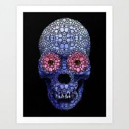 Skull Art - Day Of The Dead 1 Stone Rock'd Art Print
