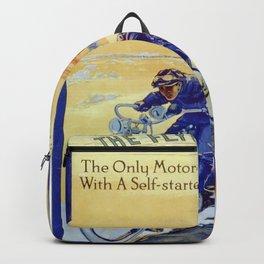 Vintage Merkel Motorcycle Advert Backpack