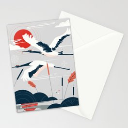 Pelicans lake Stationery Cards