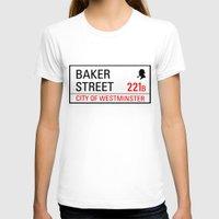 221b T-shirts featuring 221B Baker Street by TheWonderlander