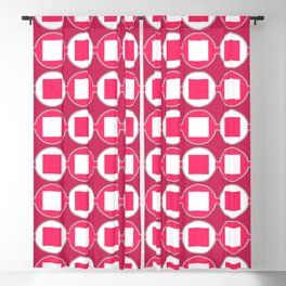 Strawberry Contemporary Bead Pattern Blackout Curtain