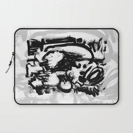 Saint With Bird - b&w Laptop Sleeve