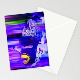 ANGEL FISH Violet Purple Stationery Cards