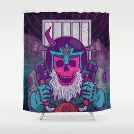 Skulls Helmets Bat Shower Curtain