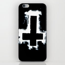 Black and White Inverted Cross iPhone Skin