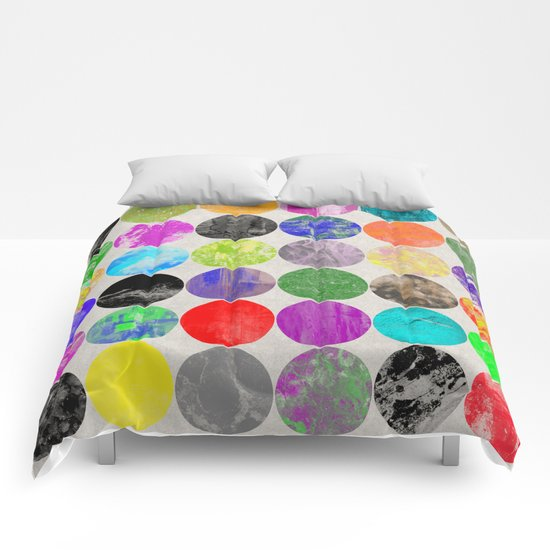 36 Textures - Multi Coloured, Multi Patterned, Multi textured Canvas Painting Comforters
