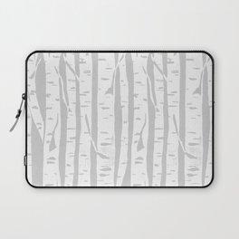 Woodcut Birches Grey Laptop Sleeve