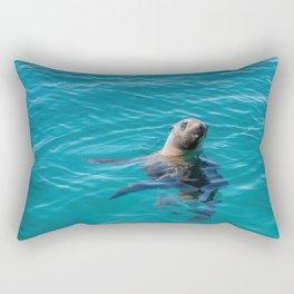 Baja Sea Lion Floating Vertically Rectangular Pillow