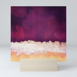 Maroon Ocean Mini Art Print
