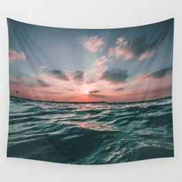 Sunset Tide Wall Tapestry
