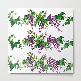 Wisteria and Ivy Metal Print