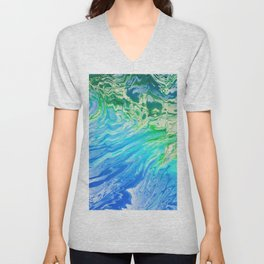 Abstract water 145 Unisex V-Neck