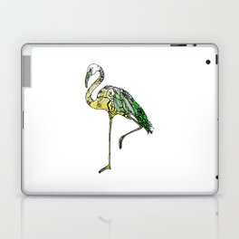 Yellow Flamingo Illustration Laptop & iPad Skin