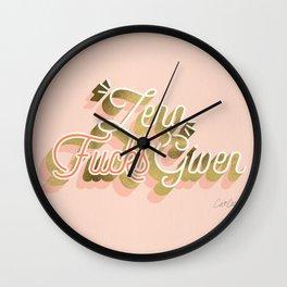 Zero F*cks Given – Blush & Gold Palette Wall Clock