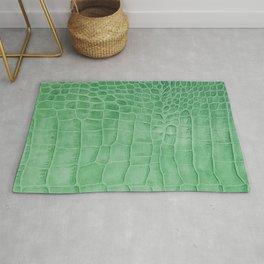 Croco leather effect - green Rug