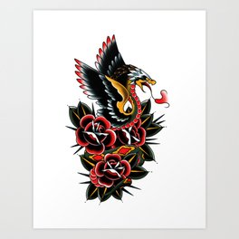Eagle serpent Art Print