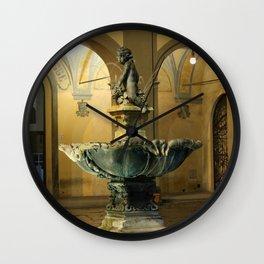 The Fountain - Prato - Tuscany Wall Clock