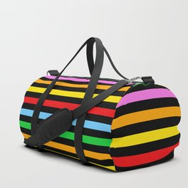 Stripes (Parallel Lines) - Red Blue Green Pink Duffle Bag