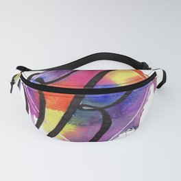 Calligraphy Capital Initial K Fanny Pack