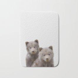 Twin baby bear art, kid bears art, lover nursery art, Woodland animals, gift for baby twin Bath Mat