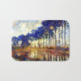 Monet : Poplars on the Banks of the River Epte, 1891 Bath Mat