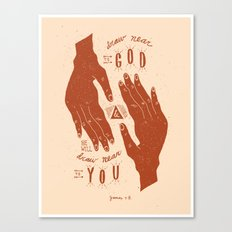 11/52: James 4:8  Canvas Print