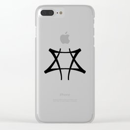 Vance Symbol-Black Clear iPhone Case