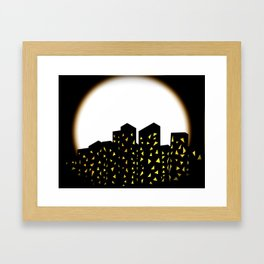 city people dont turn out their lights Framed Art Print