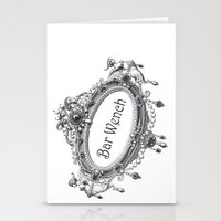 bar Stationery Cards featuring Bar Wench by Andrea Jean Clausen - andreajeanco