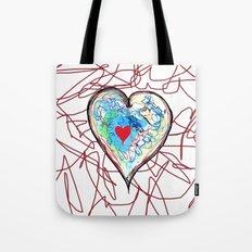 scribble heart Tote Bag