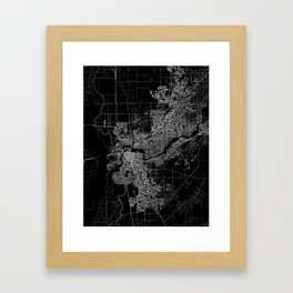 sacramento map Framed Art Print
