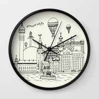stockholm Wall Clocks featuring Stockholm by Adam Lindfors
