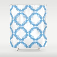 ikat Shower Curtains featuring ikat by Kozza