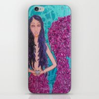 fitzgerald iPhone & iPod Skins featuring Cordelia Fitzgerald the Mermaid by inara77