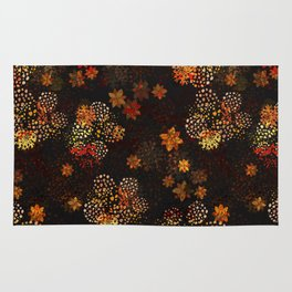 Orange & brown floral pattern Rug