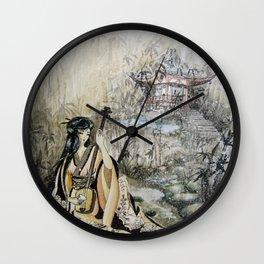 Aki No Ogawa (Creek with Bamboo) Wall Clock