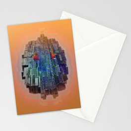 Buble Lab Robotics Space Stationery Cards