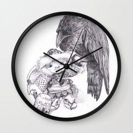 Odin and Huginn Wall Clock