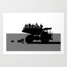Buddha dump truck (spirituality mass production) Art Print