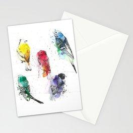 Palette Birds Stationery Cards